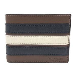 Coach Men's Slim Billfold Varsity Stripe Wallet